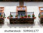 beautiful old balcony wth... | Shutterstock . vector #539041177
