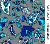 seamless pattern with fantasy... | Shutterstock .eps vector #539046493