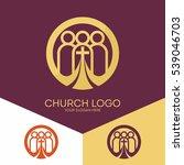 church logo. christian symbols. ... | Shutterstock .eps vector #539046703
