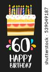 happy birthday number 60 ... | Shutterstock .eps vector #539049187