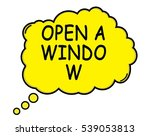 open a window speech thought... | Shutterstock . vector #539053813