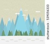 christmas vintage greeting card.... | Shutterstock .eps vector #539056333