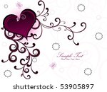 seamless floral background with ... | Shutterstock .eps vector #53905897