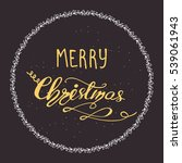 holiday circle card design with ... | Shutterstock .eps vector #539061943