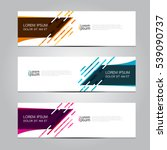 Vector design Banner background. | Shutterstock vector #539090737