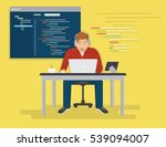 programmer is working with... | Shutterstock .eps vector #539094007