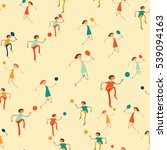 seamless pattern with figures... | Shutterstock .eps vector #539094163