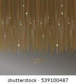 christmas gold garland  shine... | Shutterstock .eps vector #539100487
