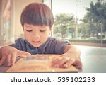 japanese boy is having gun... | Shutterstock . vector #539102233