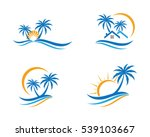 wave water logo template | Shutterstock .eps vector #539103667
