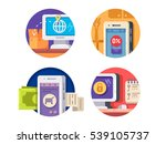 internet technology icons | Shutterstock .eps vector #539105737