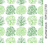 seamless pattern with cute... | Shutterstock .eps vector #539112733