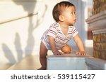 10 months adorable asian baby... | Shutterstock . vector #539115427