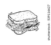 sandwich | Shutterstock .eps vector #539116627