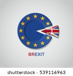 brexit concept. vector... | Shutterstock .eps vector #539116963