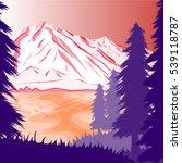winter background of landscape... | Shutterstock .eps vector #539118787