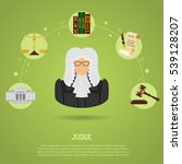 law and order concept with flat ... | Shutterstock .eps vector #539128207