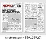 vintage newspaper journal... | Shutterstock . vector #539128927