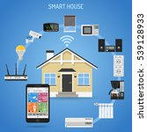 smart house and internet of...   Shutterstock .eps vector #539128933