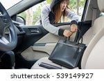 woman burglar steal a shoulder... | Shutterstock . vector #539149927
