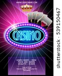 vector flyer for casino night | Shutterstock .eps vector #539150467