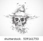 seal with underwater skulls   ...   Shutterstock .eps vector #539161753