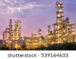 oil refinery factory at... | Shutterstock . vector #539164633