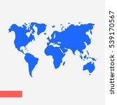 world map illustration vector | Shutterstock .eps vector #539170567