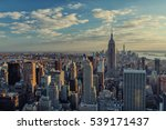 manhattan skyline at sunset in... | Shutterstock . vector #539171437