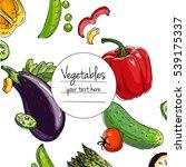 vegetables. fresh food....   Shutterstock .eps vector #539175337