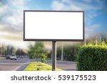 billboard canvas mockup in city ... | Shutterstock . vector #539175523