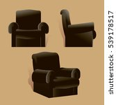 black leather reclining chair ...