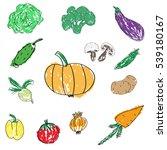 set of various doodles  hand... | Shutterstock . vector #539180167