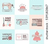 handmade needlework badges... | Shutterstock .eps vector #539182867