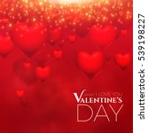 valentine's background with 3d... | Shutterstock .eps vector #539198227