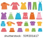 baby clothes for girls.  vector ... | Shutterstock .eps vector #539201617