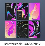 abstract colors backgrounds set.... | Shutterstock .eps vector #539202847