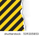 ripped paper with construction... | Shutterstock .eps vector #539205853