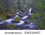 canmore creek waterfall on... | Shutterstock . vector #539214457