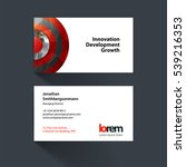 vector business card template... | Shutterstock .eps vector #539216353