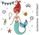 marine illustrations set. | Shutterstock .eps vector #539220667