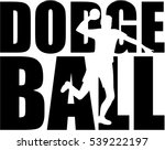 dodgeball word with player... | Shutterstock .eps vector #539222197