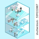 isometric flat 3d abstract... | Shutterstock . vector #539222887