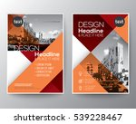 red and orange diagonal line... | Shutterstock .eps vector #539228467