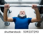 senior man in gym working out... | Shutterstock . vector #539237293