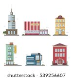 modern buildings in different... | Shutterstock .eps vector #539256607