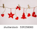 christmas decorated garland... | Shutterstock . vector #539258083