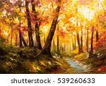 Oil Painting Landscape   Autum...