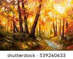 oil painting landscape   autumn ...   Shutterstock . vector #539260633