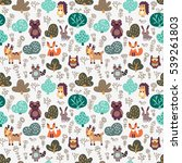 Funny Animal Seamless Pattern...